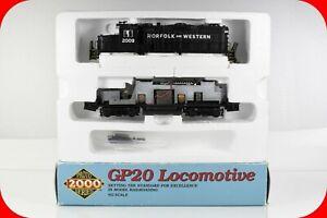 HO Scale NORFOLK & WESTERN #2009 GP-20 Diesel Locomotive, PROTO 2000, DCC Ready