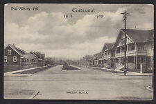 New Albany-Indiana-Shelby Place-Homes-Antique Postcard