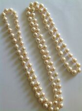 Beautiful Fine Vintage Long Opera Length Uniform Baroque Cultured Pearls
