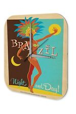 Agence Voyage Vacances Décoration Horloge  Jour et nuit Brésil carnaval costum