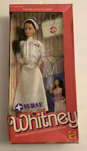 Vintage 1987 Nurse Whitney Doll in Box Mattel Steffie Face Barbie