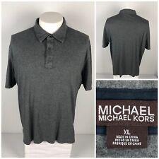Michael Kors Mens XL Polo Shirt Gray Short Sleeve 100% Cotton Soft