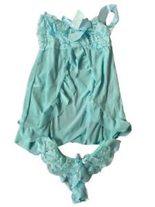 Negligee BabyDoll Night Dress with Matching Thong