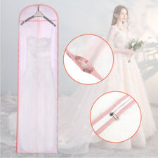Long Breathable Wedding Prom Dress Garment Clothes Covers Dust-proof Storage Zip
