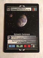 Star Trek CCG 1E Diplomatic Conference Mission Rare Card