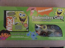 Pacesetter Spongebob Clues Embroidery Card & 23 Thread Set Nickelodeon Brother