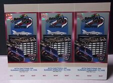 Vtg Uncut 1998 DAYTONA 500 TICKET STUB SHEET w/ Holograms DALE EARNHARDT