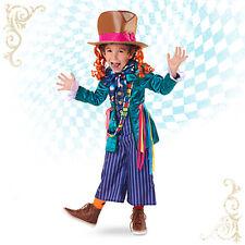 Disney Store Alice in Wonderland MAD HATTER Halloween Costume & Hat - Kids 9/10