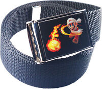 Fire Super Mario Bros. Belt Buckle Bottle Opener Adjustable Web Belt