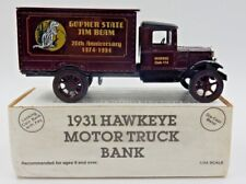 Vintage Ertl Jim Beam Gopher State 20Th Anniv. Iajbbsc 1931 Hawkeye Truck Bank