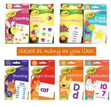 Crayola Flash Cards For Toddlers 3+ Alphabet Phonics Counting Colors Shape Rhyms