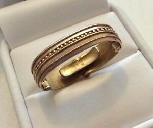 Good Antique Solid 9 Carat Gold Cravat / Scarf Ring