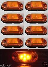 8x 4 LED 24V Side Marker AMBER Lights for Truck Trailer MAN Scania DAF Renault