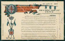 Militari Reggimentali IX Lancieri di Firenze Inno Spartito cartolina XF2230