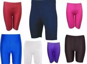 Lycra Shorts Kids/Boys/Girls Sports gym Shorts Cycling Dancing PE School