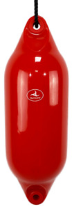 1 x HURRICANE Boat Fenders: Red PM03 - FREE ROPE + INFLATED