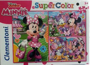 Disney Junior Minnie Puzzle 3in1 3er Set 9-12-18 Teile Clementoni