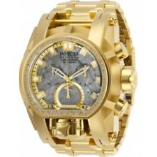 Invicta Men's 28414 Reserve Quartz Chronograph Silver, Gold Dial Watch