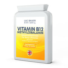 Vitamin B12 Methylcobalamin 1000µg - 120 Capsules. Made in Great Britain.