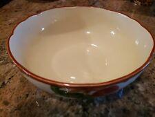"FRANCISCAN china APPLE USA pattern round Large salad serving bowl 10"" X4-72"