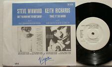 "KEITH RICHARDS Take It So Hard 1989 JAPAN Promo ONLY 7"" Rolling Stones 45 Minty!"