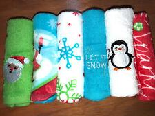 Embroidered 6 piece Christmas Theme Washcloth Set NWT WC0001