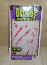 "Nip Bloody Halloween Shower Curtain 70""x72"" Bathroom Scary Decor"