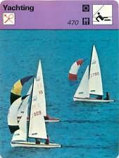 FICHE CARD 470 Monotype à Coque en Forme & à Dérive Mobile Voilier Yacht 70s