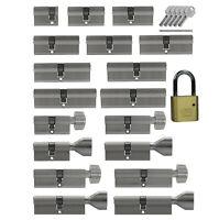 Tür Profil und Knauf Zylinder kombinieren Not +Gefahrenfunktion gleichschließend