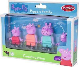 NEW Peppa Pig 4 Piece Set THE FAMILY Building Blocks BIG Bloxx Action Figure