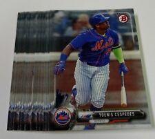 15 2017 Bowman Prospects YOENIS CESPEDES card lot NEW YORK METS Baseball #17