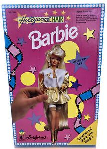 Vintage Hollywood Hair Barbie Dress-Up Set Colorforms Play Set 760 1990's Unused