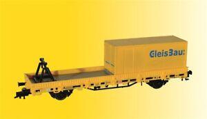 kibri 26264 Spur H0, Schutzwagen mit Auflage und Container GleisBau Neu in OVP