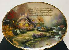 Thomas Kinkade's Guiding Lights Everett'S Cottage Bradford Exchange Plate - Rare