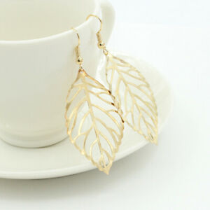 Fashion 1pair Gold Leaf stud earrings Stud Earring Women Party Jewerly#1