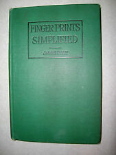 Finger Prints Simplified Handbook of the Science of Finger Print Identification