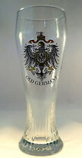 OLD GERMANY Empire Coat of Arms Blown Glass Pilsner Beer Glass- MORE AVAILABLE