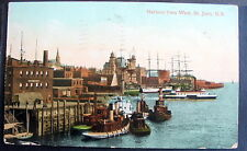 CANADA ST JOHN New Brunswick HARBOUR FROM WEST 1910