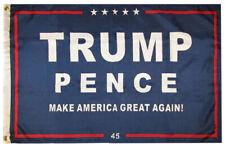 2x3 Trump Pence Make American Great Again! Blue 100D Woven Poly Nylon Flag 2'x3'