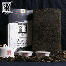Anhua Baishaxi 1939 Dark Tea Gold Flower Handmade Tian Fu Cha Tea Brick 1kg