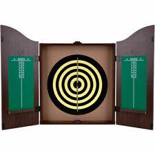 Tg 15DG91004 TGT Kings Head Value Dartboard Cabinet Set Dark Wood