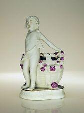 Wunderschöner Jugendstil Biskuit-Porzellan Blumenkorb, Blumen-Mädchen