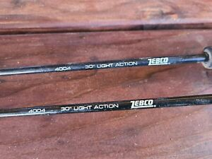 "2 Ice Fishing Rods Zebco 4004 30"""