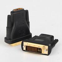 [1-10Pack] 1080P DVI-I (24+5) to HDMI (Male to Female) AV Adapter Converter