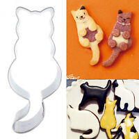 Funny Fat DIY Cat Stainless Steel Cookie Dessert Fruit Mould Party HOT