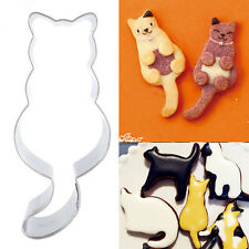 Funny Lucky Cat Stainless Steel Cookie Dessert Fruit Cutter DIY Mould Party Gift