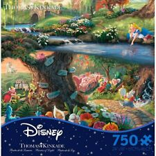 Thomas Kinkade Puzzle Disney's Alice In Wonderland 750 Ceaco Puzzle