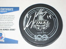CHRIS KUNITZ Signed 2017 STANLEY CUP Official GAME 6 Puck w/ Beckett COA