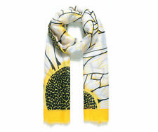 Ladies Women Large YELLOW Sunflower Flower Print Spring Summer Fashion Scarf