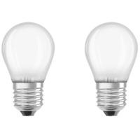 2er Set Osram LED Star Classic P40 Filament Lampe E27 Leuchtmittel 4W Warmweiß